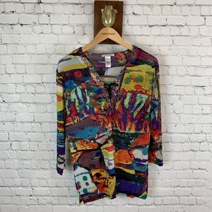 Alberto Makali Abstract Tunic